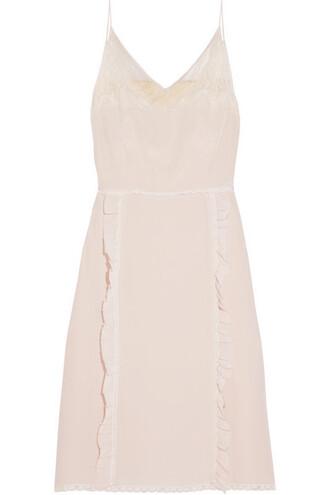 dress lace silk neutral