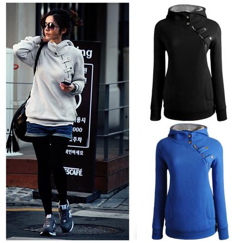 Fashion Ladies Hoodie Sweatshirt Sweater Womens Jacket Coat Top Uk Size 6-16   Amazing Shoes UK
