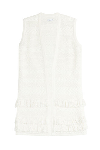 vest cotton white jacket