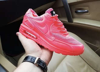shoes air max neon pink