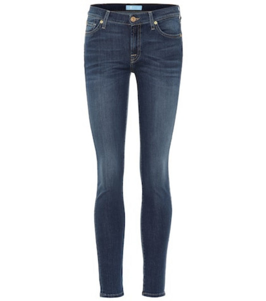 7 For All Mankind The Skinny B(AIR) mid-rise jeans in blue