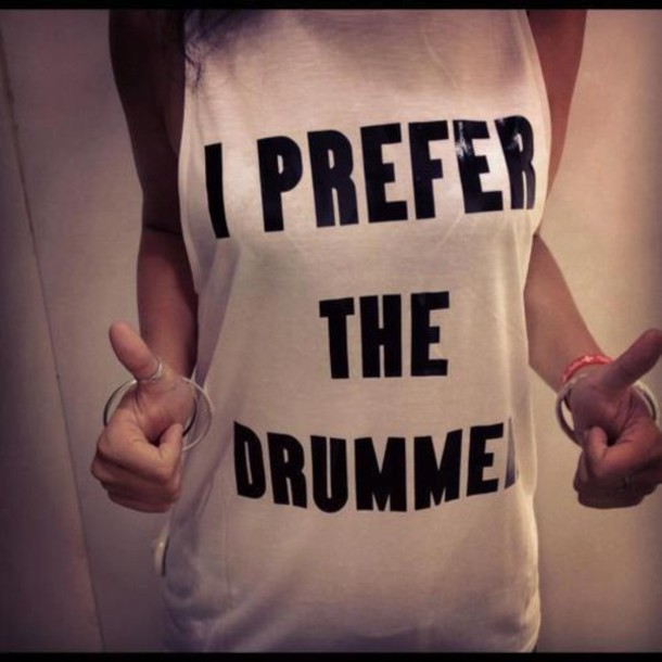 Tank Top Drummer i Prefer The