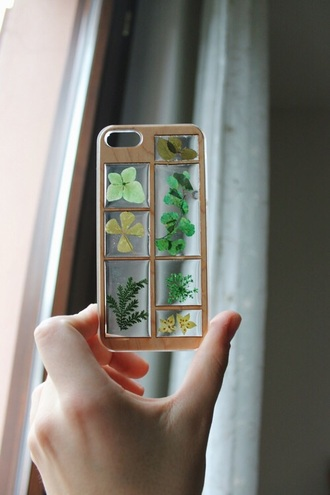 phone cover wood flower phone case natural