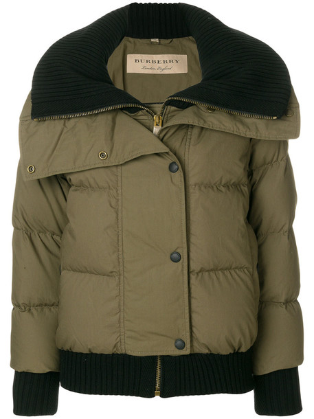 Burberry jacket puffer jacket women cotton wool green