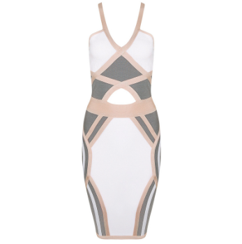 Neutral bandage dress