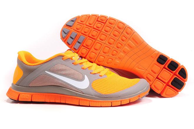 Nike Free 4.0 V3 Sport Grey White Bright Citrus-Womens