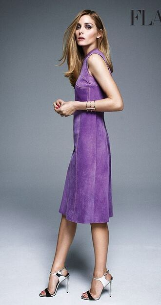 olivia palermo sandals purple dress