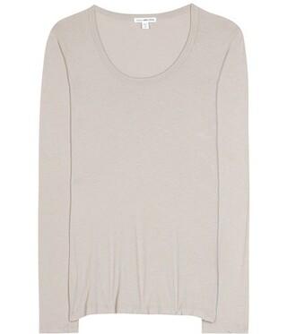 t-shirt shirt long cotton grey top