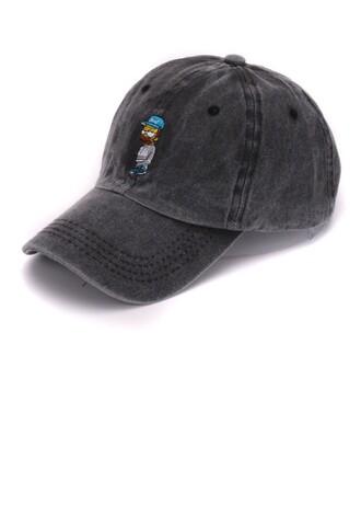 hat cap grey denim the simpsons funny