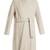 Tie-waist wool-blend coat