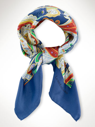 Paisley Silk Scarf - Scarves  Hats, Scarves & Gloves - RalphLauren.com