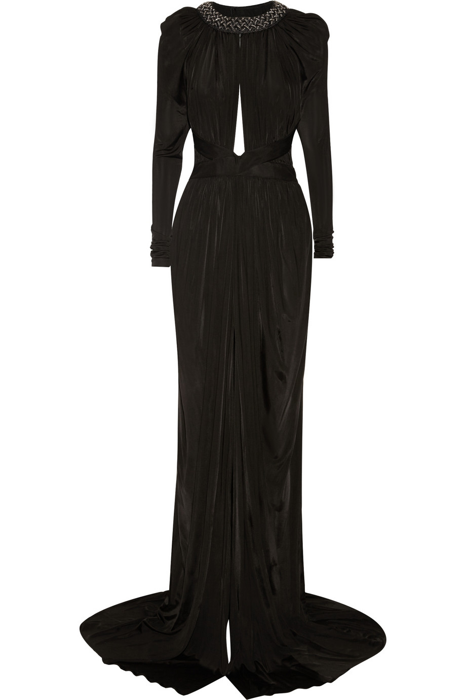 Balmain embellished sateen gown – 60% at the outnet.com