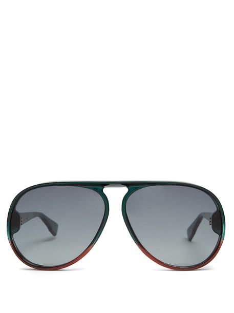 dior sunglasses aviator sunglasses green