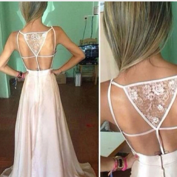 dress gown prom dress prom lace white summer prom 2014