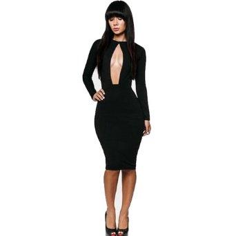 Amazon.com: Zeagoo Womens Clubwear Outfit Crewneck Bandage Bodycon Dress: Clothing