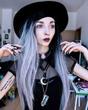 shirt,black,aesthetic,tumblr,witch,cute,kimiperri,punk,blouse,harajuku,pastel goth,nu goth