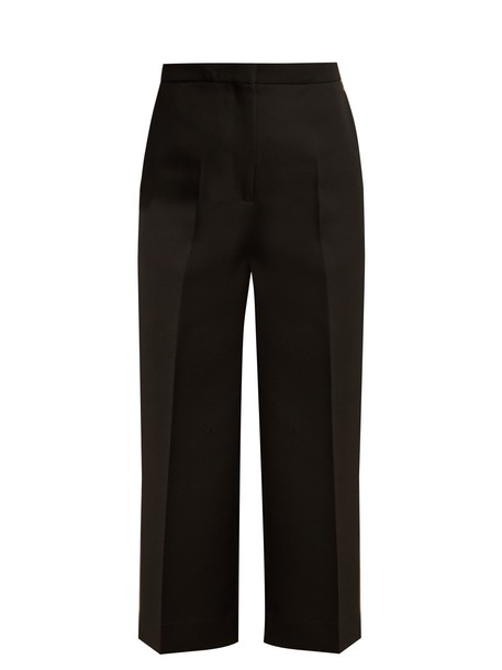 Rochas cropped high wool black pants