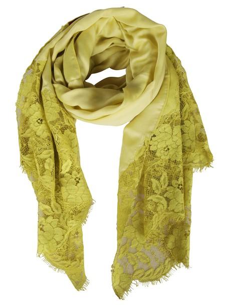 Valentino Garavani scarf silk scarf silk yellow orange