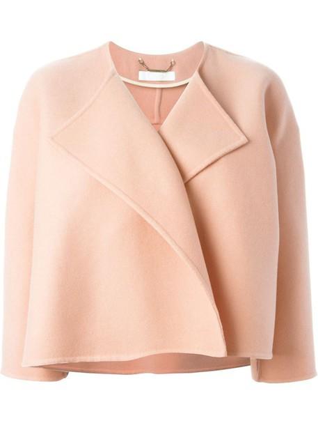 Chloe jacket cropped jacket cropped purple pink