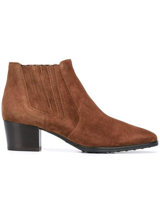 women boots chelsea boots leather suede brown shoes