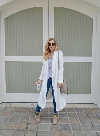 lauren conrad blogger cardigan t-shirt shoes jewels bag