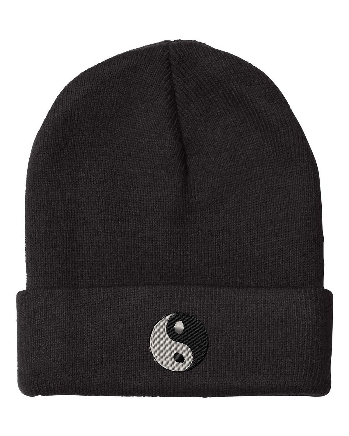 Amazon.com: ying yang embroidery embroidered beanie skull cap hat: clothing