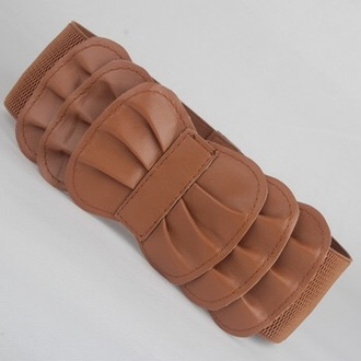 belt brown ruffle big belt thick belt ruffle belt brown belt elastic elastic belt bow bow belt elastic waist