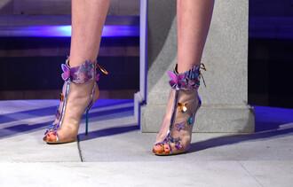 shoes butterfly sandals sandal heels high heel sandals fashion week 2016 london fashion week 2016 sophia webster