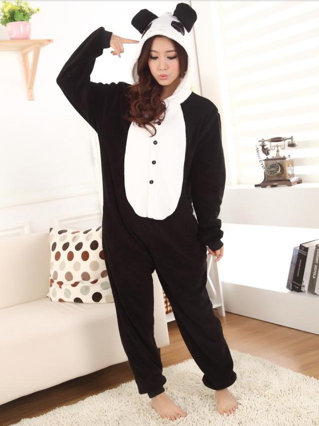 JP Anime Kigurumi Pajamas Panda Cosplay Costume Pyjamas Hoodies Helloween Party Dress-in Costumes from Apparel & Accessories on Aliexpress.com