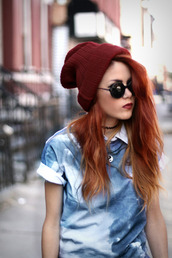 t-shirt,blue,short sleeve,acid wash,tie dye,hat,sunglasses,le happy,jewels
