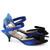 Cobalt Blue & Navy Bow Kitten Heels