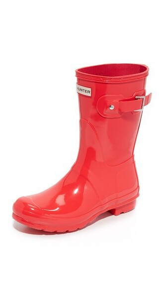 short boots coral bright shoes