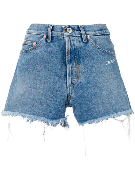 Off-White shorts denim shorts denim women cotton blue