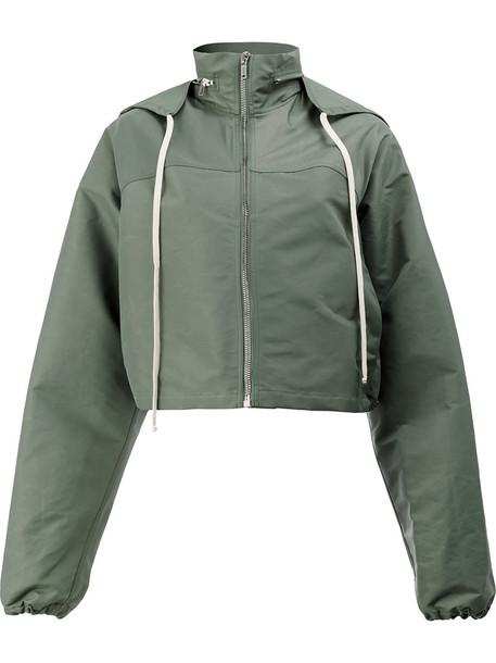 Rick Owens jacket windbreaker women cotton green