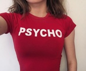 shirt,red,psycho