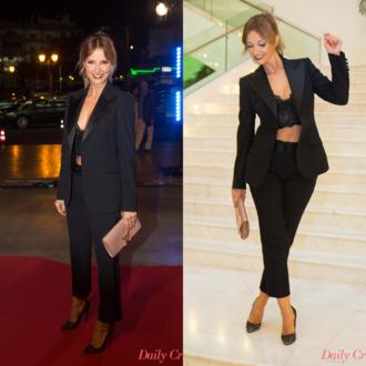 crop tops pants smoking blazer look lookbook