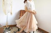 skirt,vintage,feminine,layered