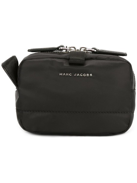 Marc Jacobs small 'Mallorca' travel make-up case, Black, Leather/Polyester