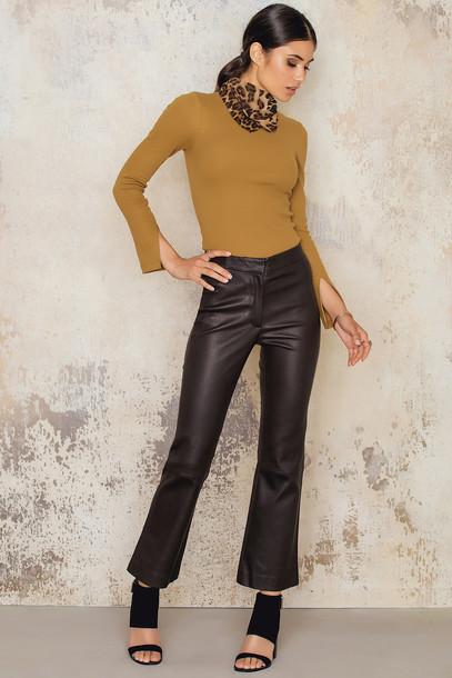 Dagmar Hadley Leather Trouser