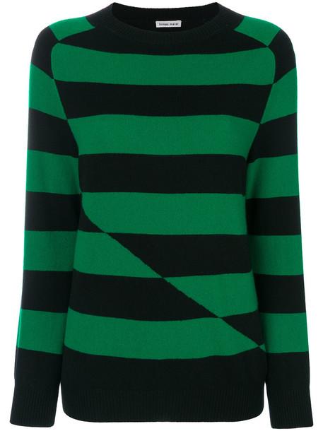 Tomas Maier sweater striped sweater women soft black knit