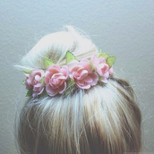 jewels,sweet,flowers,hair accessory,hair bow,summer,pink
