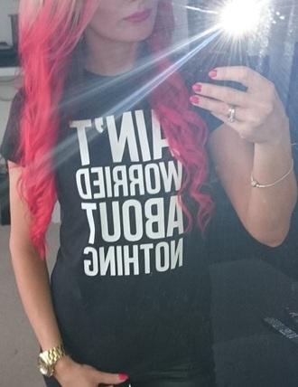 t-shirt red hair printed t-shirt funny t-shirt