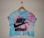 top,nike crop top,tie dye shirt,nike,crop tops,diy