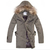 Moncler Men Fur Long Down Coat Khaki