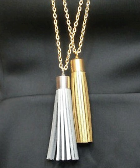 Silver Coco Tassel Necklace