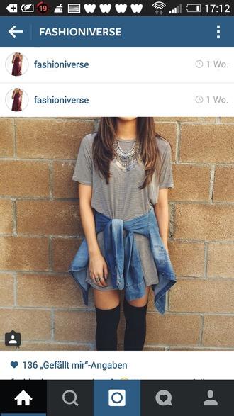 shirt dress striped