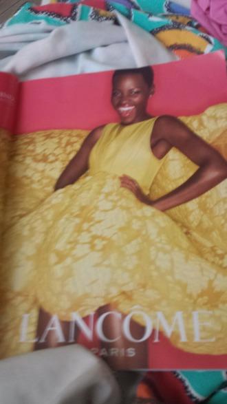 dress yellow dress lancome
