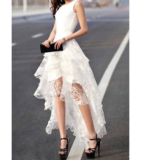 little cute summer organza dressdresseshighlow dress