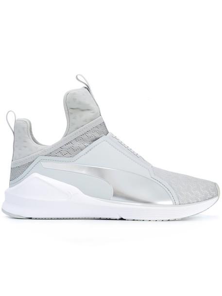 puma mesh women sneakers grey shoes