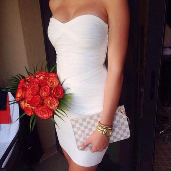 beach sun skinny mini dress prom dress classy night summer outfits brillant party dress dress white tight white dress
